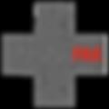 grey cross black background, see through