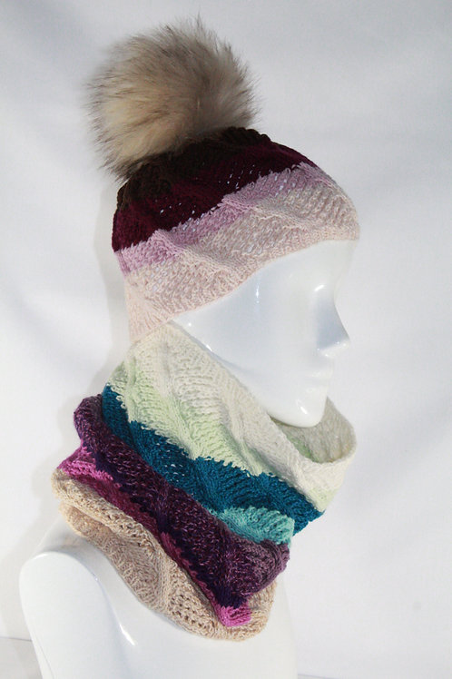 Cashmere Beanie and Cowl Set
