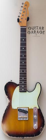 Fender Esquire Custom Telecaster worn Sunburst