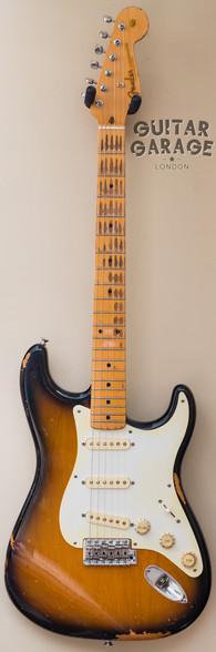 Fender American Vintage 57 Stratocaster 2-tone worn Sunburst nitro