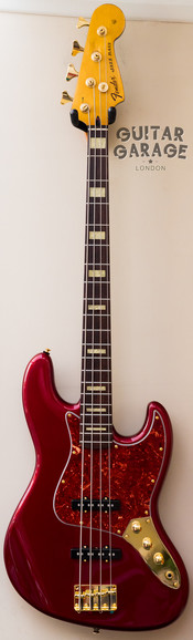 Fender Japan Jazz Bass Candy Apple Red with Gold hardware