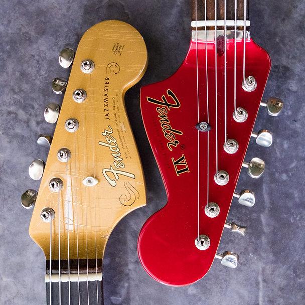 Fender guitars headstocks