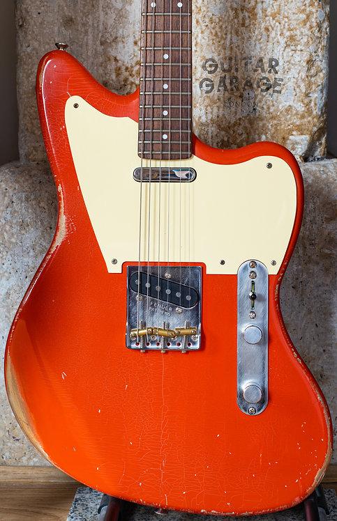 Jazzcaster Telemaster Alder Custom Offset - Fender Japan 1985 neck - Fiesta Red