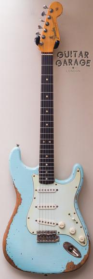 Fender 65 Strat worn Sonic Blue