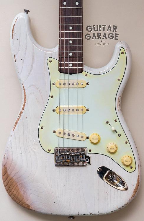 Fender Stratocaster - 62 Vintage Reissue - Japan - Custom ash body - Aged White