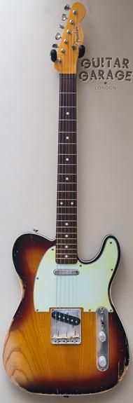Tele Esquire 3-tone Sunburst worn nitro