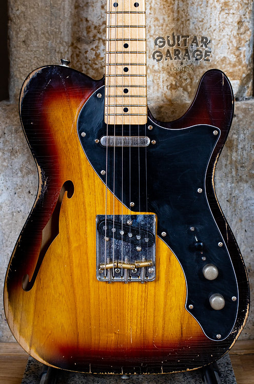 Fender Telecaster USA neck on an Aged 3-tone Sunburst nitro Thinline body