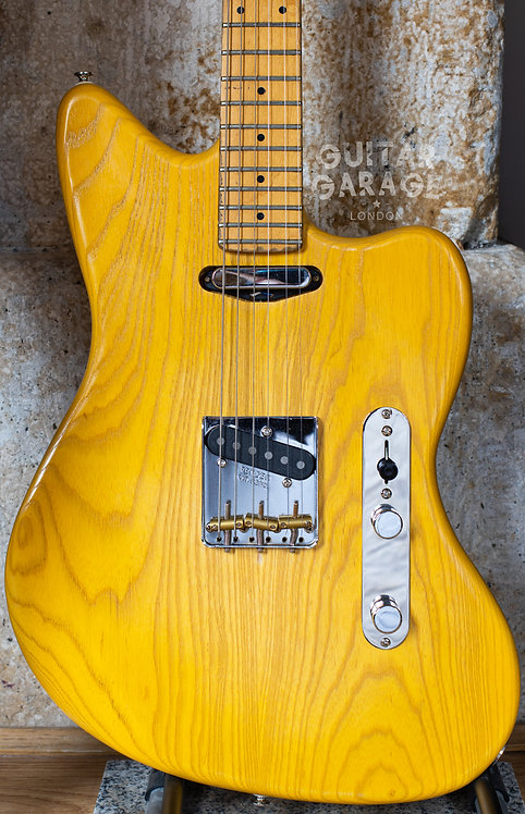 Jazzcaster Telemaster Ash Custom Offset - Fender Japan 1986 neck - Butterscotch