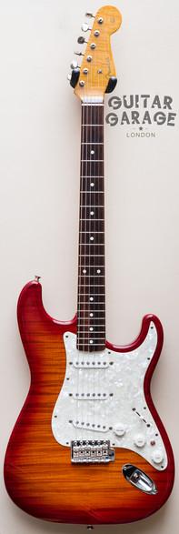 1995 Fender Japan FotoFlame Cherry Burst Stratocaster 62 Vintage Reissue