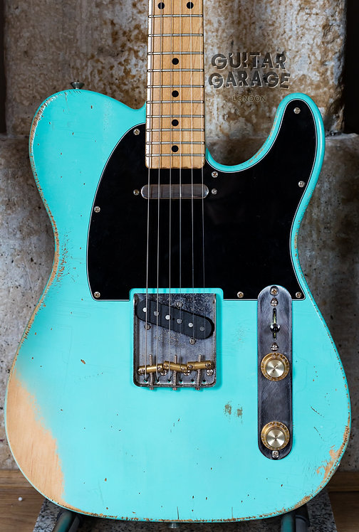 Fender Telecaster Japan neck on a custom Surf Green body