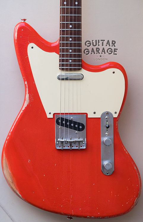 Telemaster Alder Custom Offset - Fender Japan 1985 neck - Fiesta Red nitro