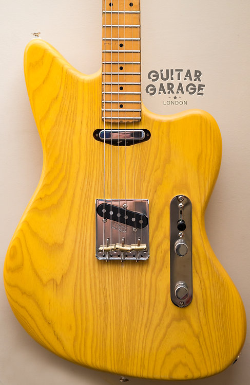 Jazzcaster Telemaster Ash Custom Offset - Japan neck - Butterscotch (1985/2019)