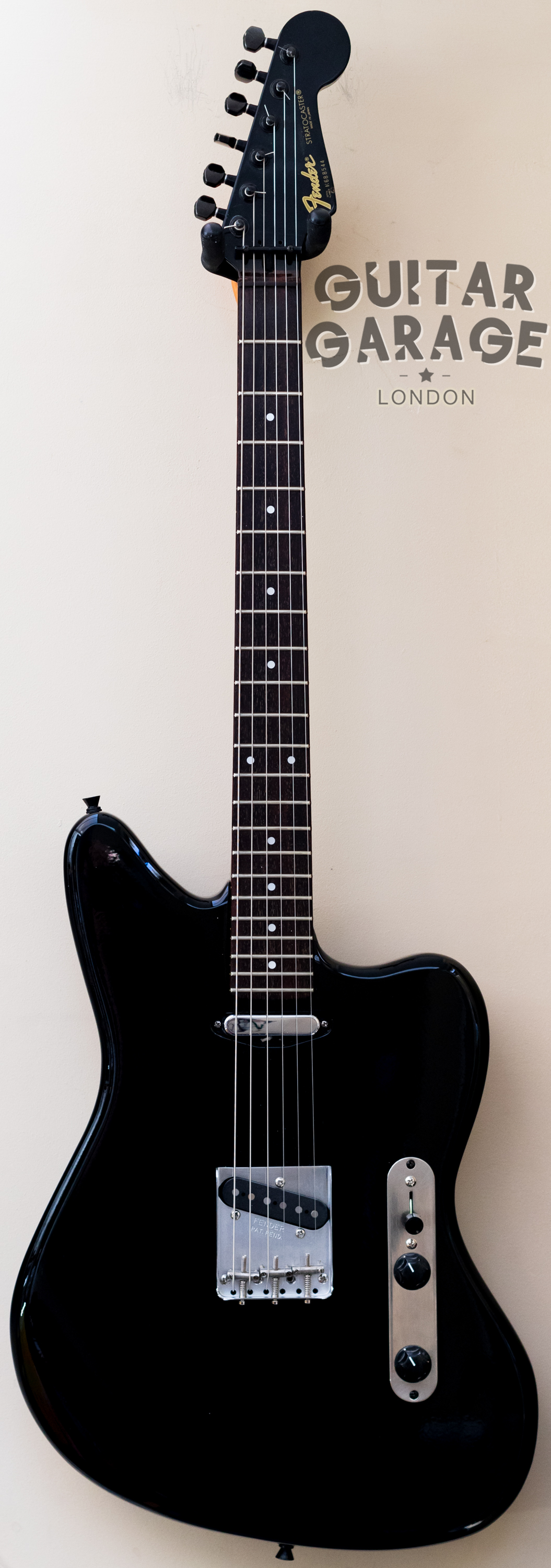 "Jazzcaster ""Black Mirror"" custom"