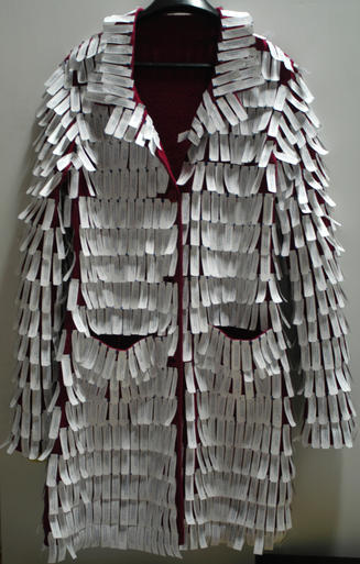 Annie Buckley, Fortune Coat, 2008, coat and thousands of fortunes