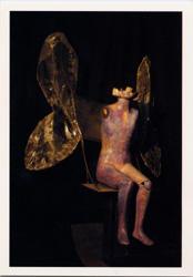 Annie Buckley, Butterfly Chair, 1998, metal, mannequin, gauze