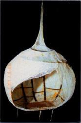 Annie Buckley, Cocoon, 1999, metal, gauze, wax