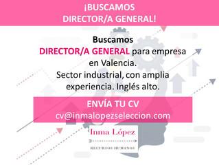 ¡BUSCAMOS DIRECTOR/A GENERAL PARA VALENCIA!