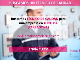 Técnico en Control de Calidad (Tortosa - Tarragona)