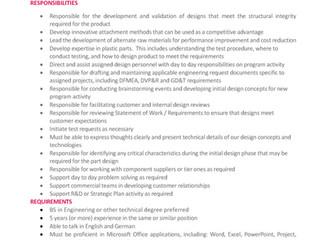 Buscamos Ingeniero de Desarrollo de Producto con Inglés y Alemán / Product Development Engineer