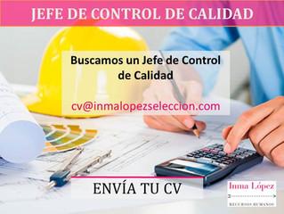 Oferta de Empleo - Jefe Control de Calidad
