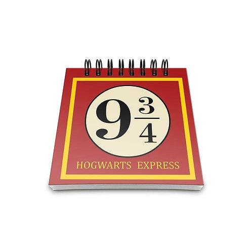 Frente do Bloco De Anotações Plataforma 9 3/4 - ArteNac Harry Potter