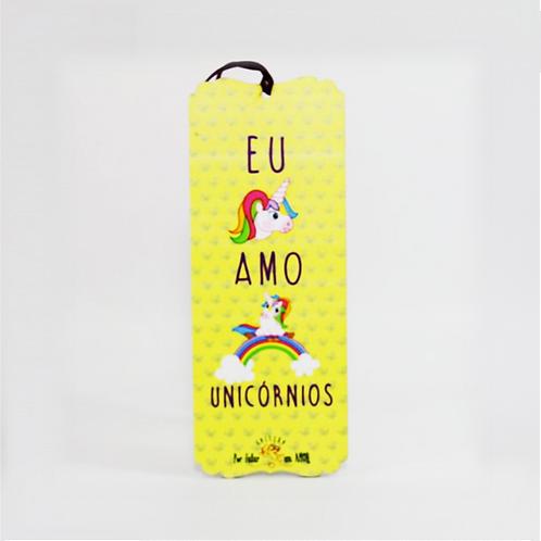 Placa Coleção Por Falar Em Amor - Eu Amo Unicórnios (Placa Decorativa) - ArteNac