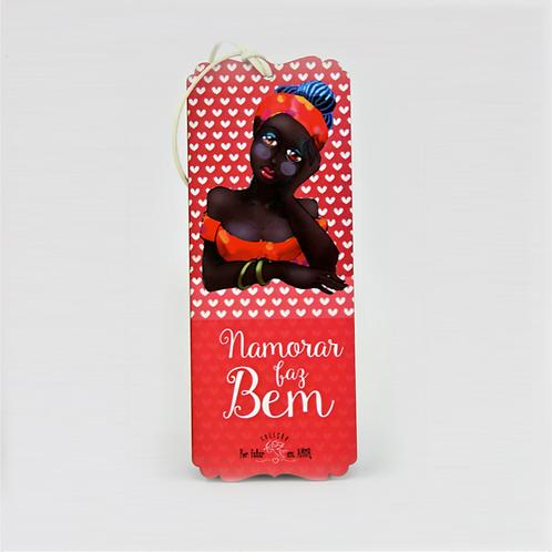 Placa Coleção Por Falar Em Amor - Namorar Faz Bem (Placa Decorativa) - ArteNac