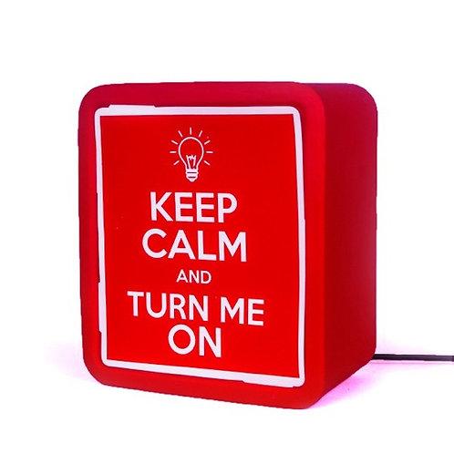 Luminária Lightbox - Keep Calm - Frente