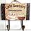 Gancho Decorativo de Madeira - Porta-toalha Modelos Vintage Café Saveurs