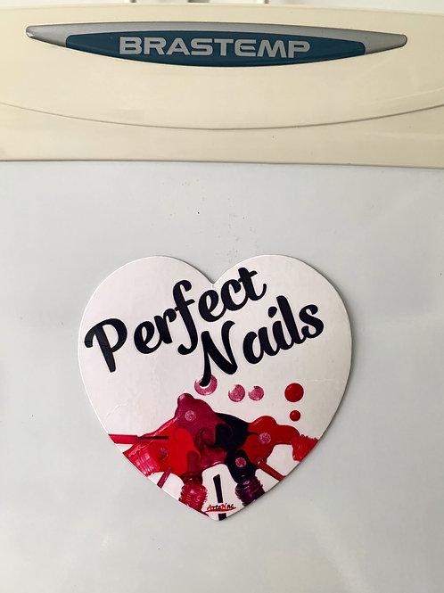 Ímã Coração - Perfect Nails - Geladeira
