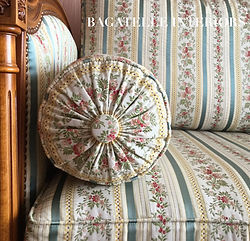 Louis XVI daybed upholstery detail-Paris