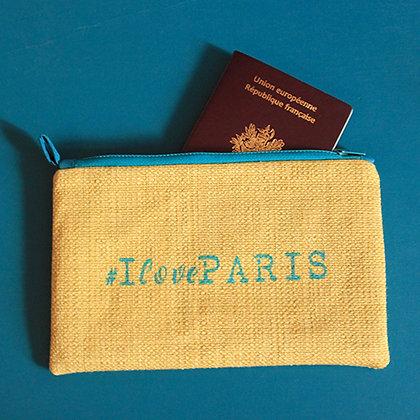 Pochette jaune #IlovePARIS