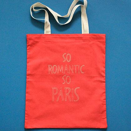 Tote bag rouge SoRomanticSoParis