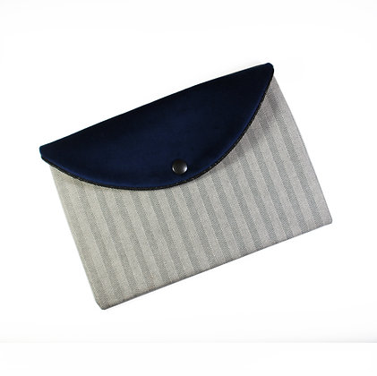 Pochette enveloppe en jean noir & blanc