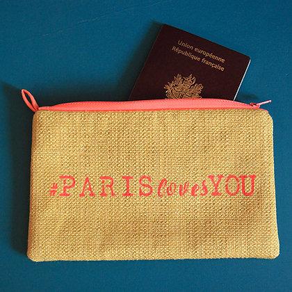 Pochette jaune #PARISlovesYOU