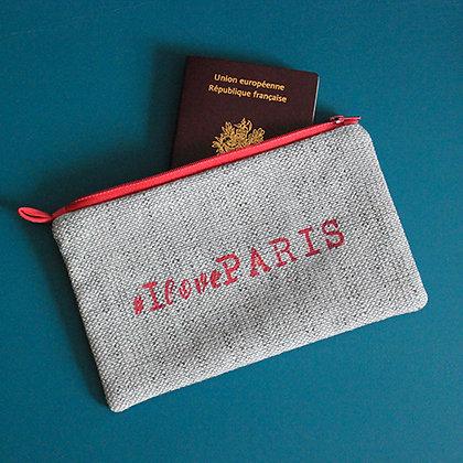 Pochette grise #IlovePARIS