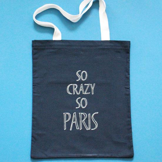 Tote bag bleu marine SoCrazySoParis