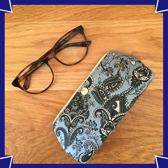 Etui à lunettes Cachemire bleu