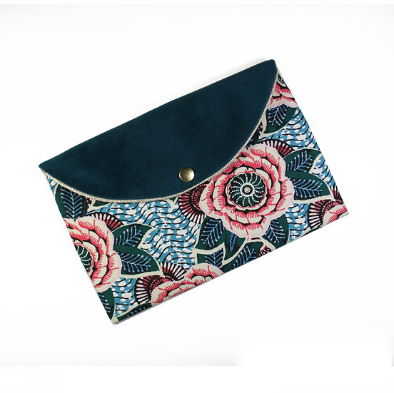 Pochette enveloppe Dahlia rose