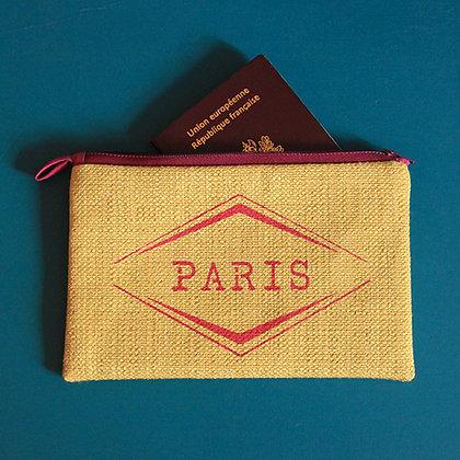 Pochette jaune PARIS