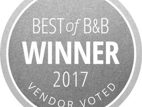 Best of B&B 2017, Vendor Voted