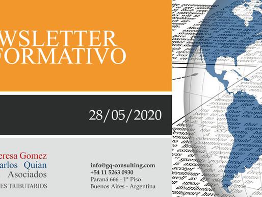 NEWSLETTER - 28/05/2020