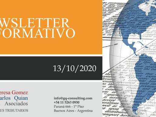 NEWSLETTER - 13/10/2020