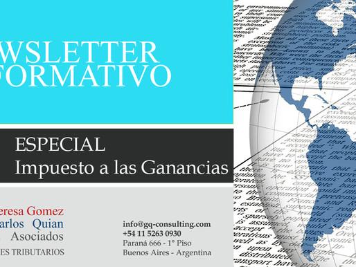 NEWSLETTER - Especial Impuesto a las Ganancias - 24/7/2020.-