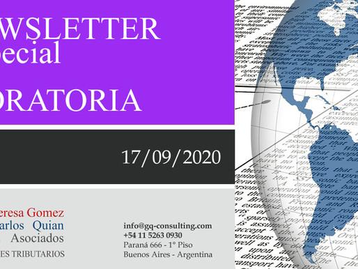 NEWSLETTER ESPECIAL - Ampliación Moratoria.-
