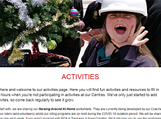 Activities page