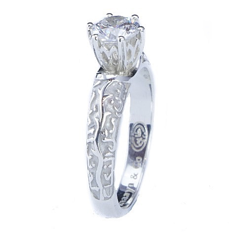 Islamic Muslim Diamond Engagement Rings Ring Upright