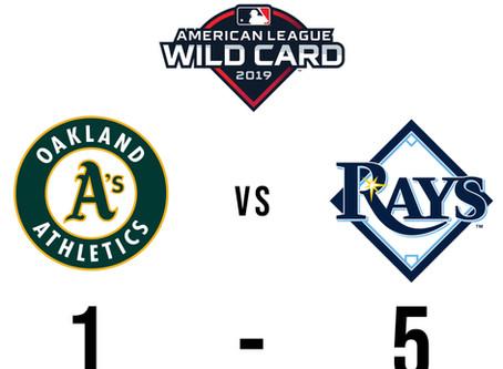 American League WildCard: Rays Slug 4 Homers to beat A's 5-1