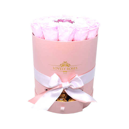 Drawer Box Pink Preserved Roses