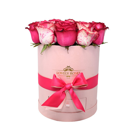 Drawer Box Natural fuchsia Roses / ONLY IN MIAMI